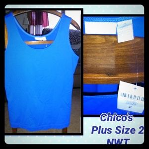 CHICO'S Tank Top NWT sz 2 Large Blue
